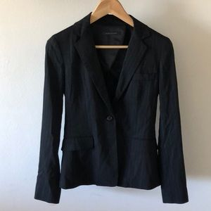 Elie Tahari Pin Stripe Black Suit Jacket